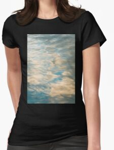 Blue sky reflections in a lake  Womens Fitted T-Shirt