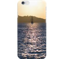 Sailboat bathed in dawn sunlight iPhone Case/Skin