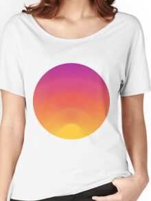 Sunset Circle Women's Relaxed Fit T-Shirt