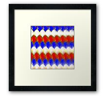 Red White & Blue Spotty Dragon Scales Framed Print