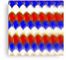 Red White & Blue Spotty Dragon Scales Canvas Print
