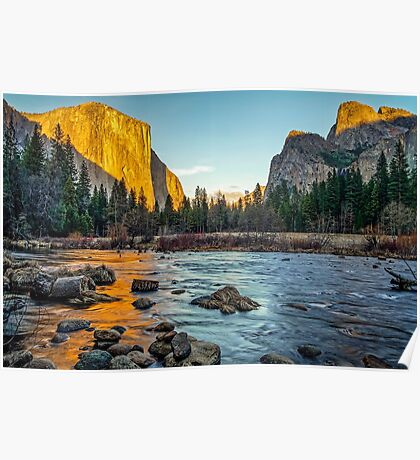 Valley View Sunset Poster
