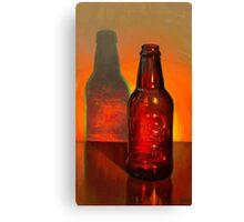 Root Beer Bottle Still Life Canvas Print