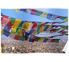 Prayer Flags, Nepal Poster