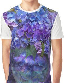Hydrangeas In Hydrangea Vase Graphic T-Shirt
