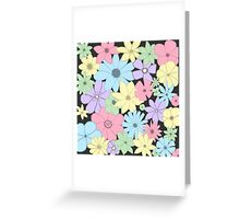 Girly Pastel Flowers Are Fun! Greeting Card