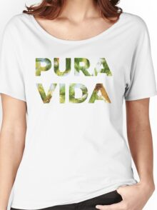 Pura Vida Costa Rica Palm Trees Women's Relaxed Fit T-Shirt