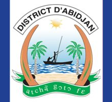 Flag of Abidjan  Sticker