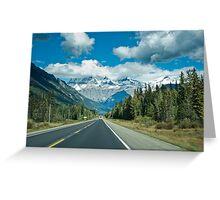 Icefield parkway  Greeting Card
