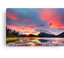Vermilion Lakes Canvas Print