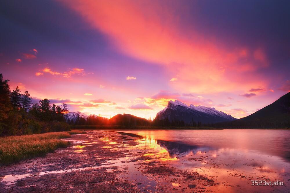 Vermillion lakes by 3523studio