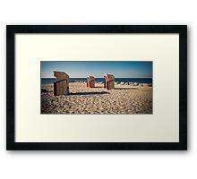 three beach chairs Framed Print