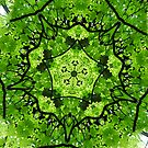 Forest Green Fractal Art by Tori Snow