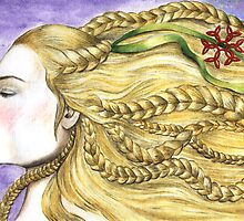 Girl with Braids by helenacooper