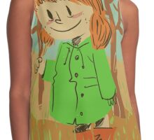 Little girl with umbrella Contrast Tank