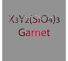 SU: Garnet Chemical Formula Photographic Print