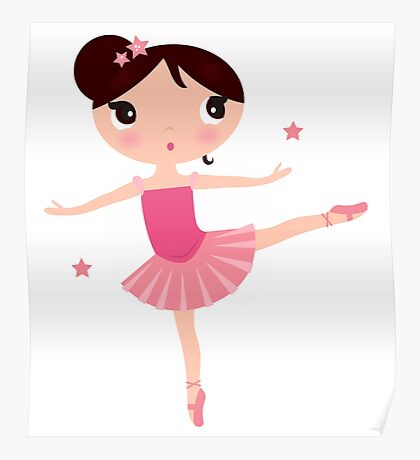 Beautiful little Ballerina girl Poster