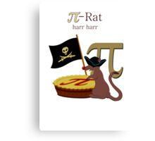 Pi-Rats love Pie Canvas Print