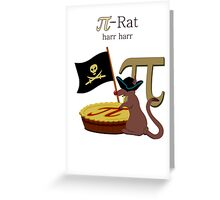 Pi-Rats love Pie Greeting Card