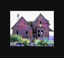 Abandoned Watercolor Farmhouse Design Print Unisex T-Shirt