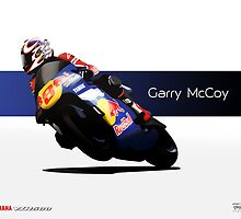 Garry McCoy - YZR500 - (Metal Print and Tees) by axesent