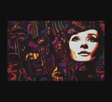 Audrey Hepburn in 3000 by JMCSharpieArt