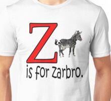 Funny Alphabet: Z is for Zebra Unisex T-Shirt