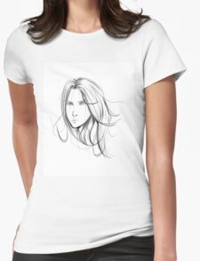 Sketch 1 Womens Fitted T-Shirt