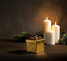 Candles present in Christmas setting by 3523studio