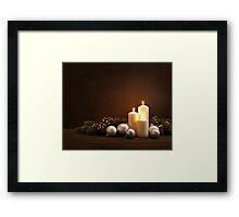 Advent Christmas wreath Framed Print