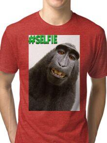 #Selfie Monkey Tri-blend T-Shirt