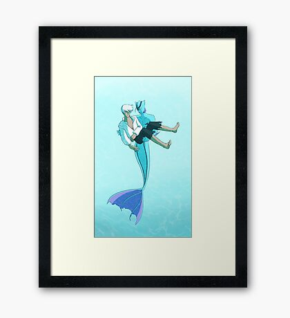 The Little Merman Framed Print