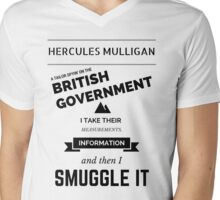 Hercules Mulligan Mens V-Neck T-Shirt
