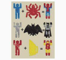 Spider + Man, Bat + Man, Iron + Man Baby Tee