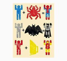 Spider + Man, Bat + Man, Iron + Man Unisex T-Shirt