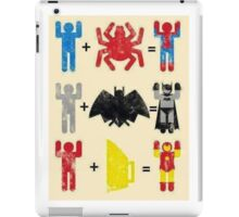 Spider + Man, Bat + Man, Iron + Man iPad Case/Skin