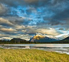 Sunset above Vermilion Lakes by 3523studio