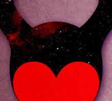 M of Hearts (Maleficent) Sticker
