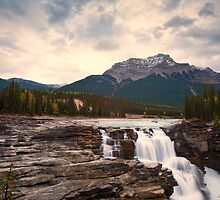 Athabasca Falls Waterfall by 3523studio