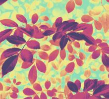 Foliage Hues - Purple Gold And Blue Sticker