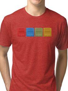 Pokemon Gameboy Cartridges. Tri-blend T-Shirt
