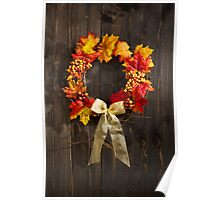 Autumn wreath  Poster