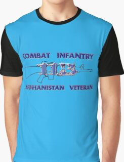 11Bravo - Combat Infantry - Afghanistan Veteran Graphic T-Shirt