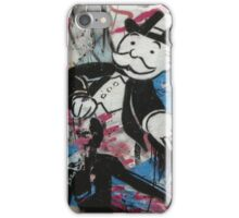 graffiti - Monopoly man iPhone Case/Skin