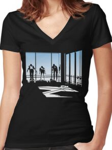 Ferris Bueller and Friends. Women's Fitted V-Neck T-Shirt