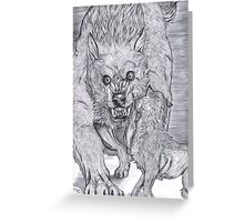 Weremonster  Greeting Card