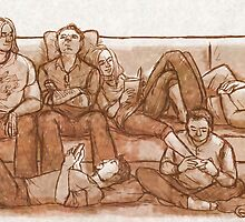 Saturday Afternoon with the Avengers by little-smartass
