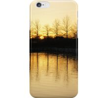 Golden and Peaceful - a Sunset on Lake Ontario in Toronto, Canada iPhone Case/Skin