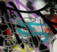 colourful graffiti with a face Sticker