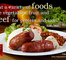 Beef it's great with variety of cuts and great taste! by Infographics